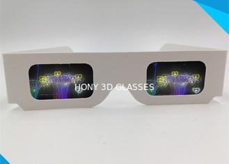 ประเทศจีน Paper Custom Logo 3d Glasses For Fireworks / Heart / Christmas Tree / Snowman / Spiral ผู้ผลิต